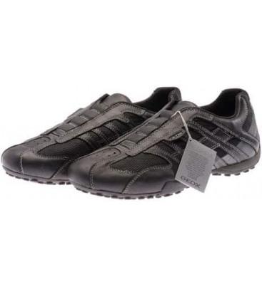 πάνινα παπούτσια GEOX SNAKE Slipper Black