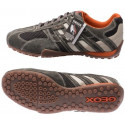 πάνινα παπούτσια GEOX SNAKE γκρι / λευκό