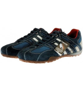 πάνινα παπούτσια GEOX SNAKE γκρι / μπλε