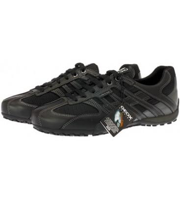 πάνινα παπούτσια GEOX SNAKE μαύρος