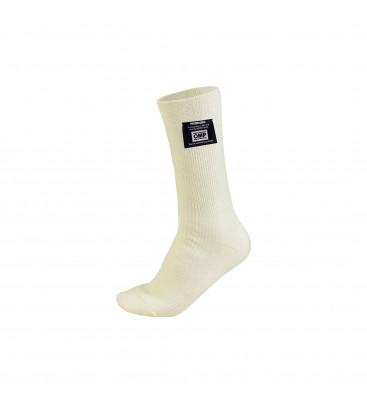 Къси номексови чорапи OMP FIA - бели