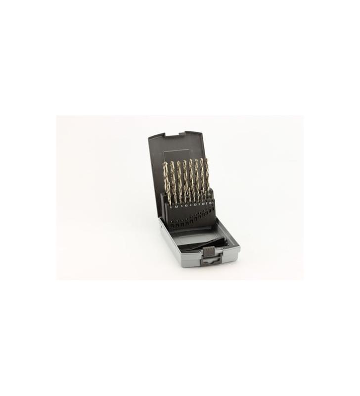 Twist Drills Set HSS-G 19 pcs. 1,0-10,0mm