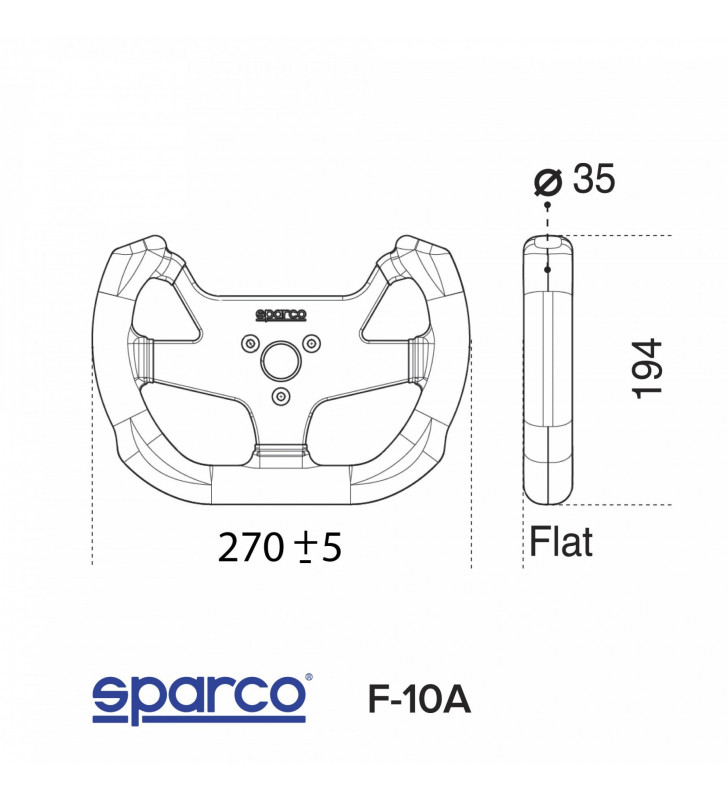 Sparco F-10 A, FIA Racing Steering Wheel