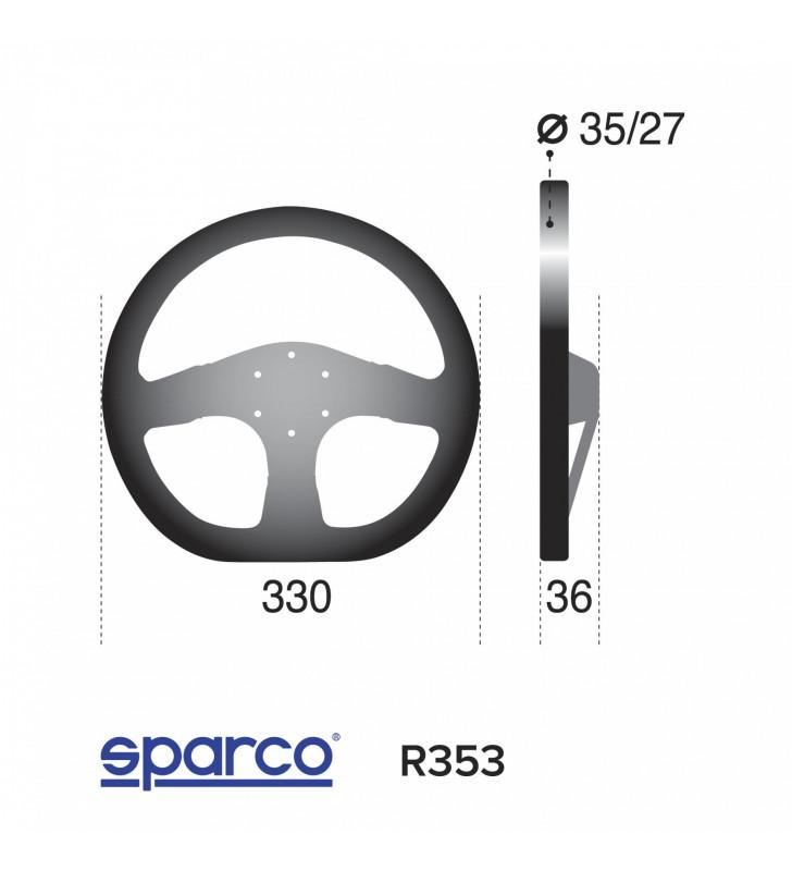 Sparco R353, FIA състезателен волан