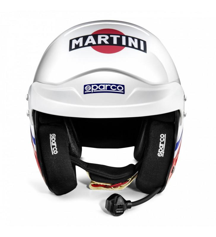 FIA Sparco Air Pro RJ-5i Martini Racing, Open Racing Helmet, Logo Design